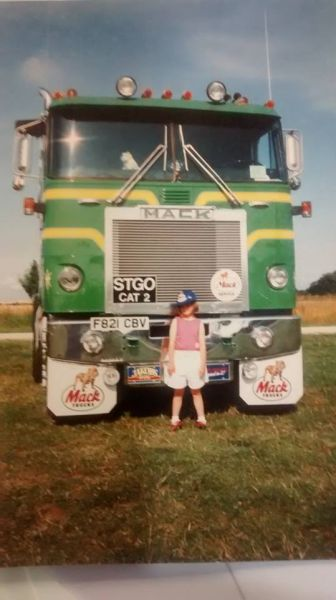 Number one daughter @ five years old in front of my mack cruise liner 23 years ago doesn't time fly. : Swipe To View More Images