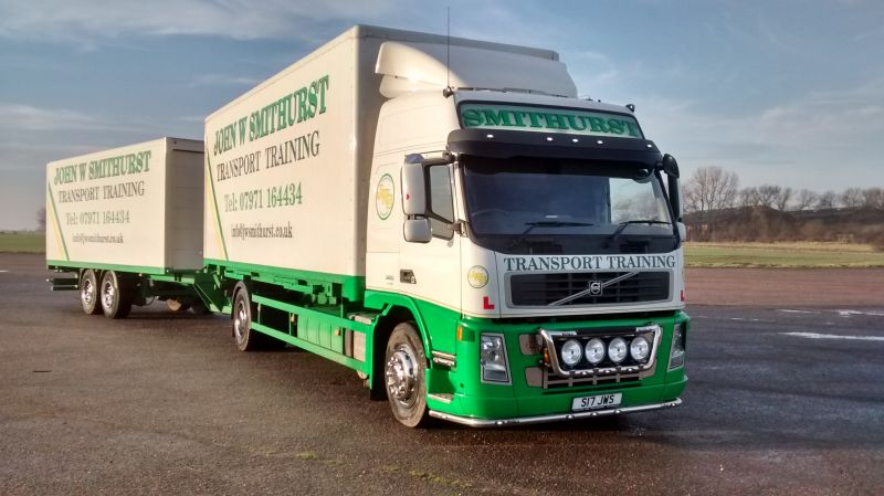 Current Volvo used for HGV, Category C and C+E Training: Swipe To View More Images