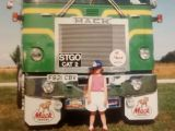 Number one daughter @ five years old in front of my mack cruise liner 23 years ago doesn't time fly. : Click Here To View Larger Image